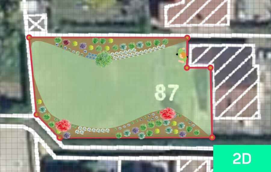 Picture of the 2D view of a garden
