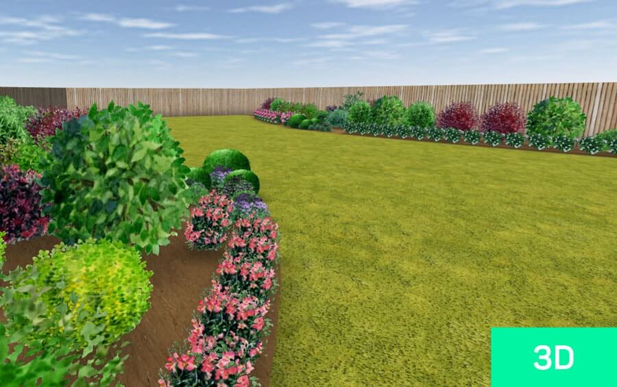 Picture of the 3D view of a garden