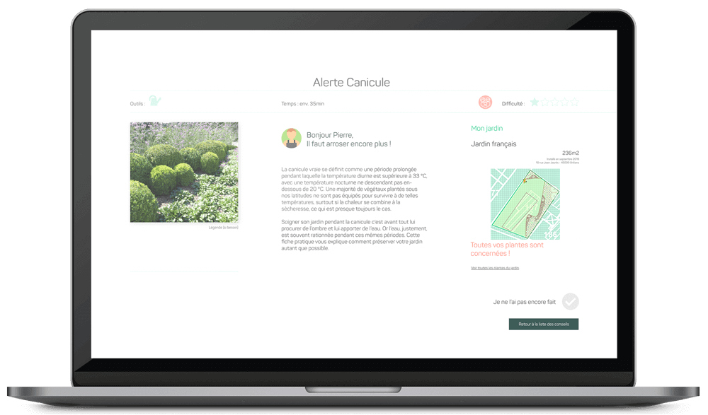 view a personalized advice display diagnostic draw me a garden