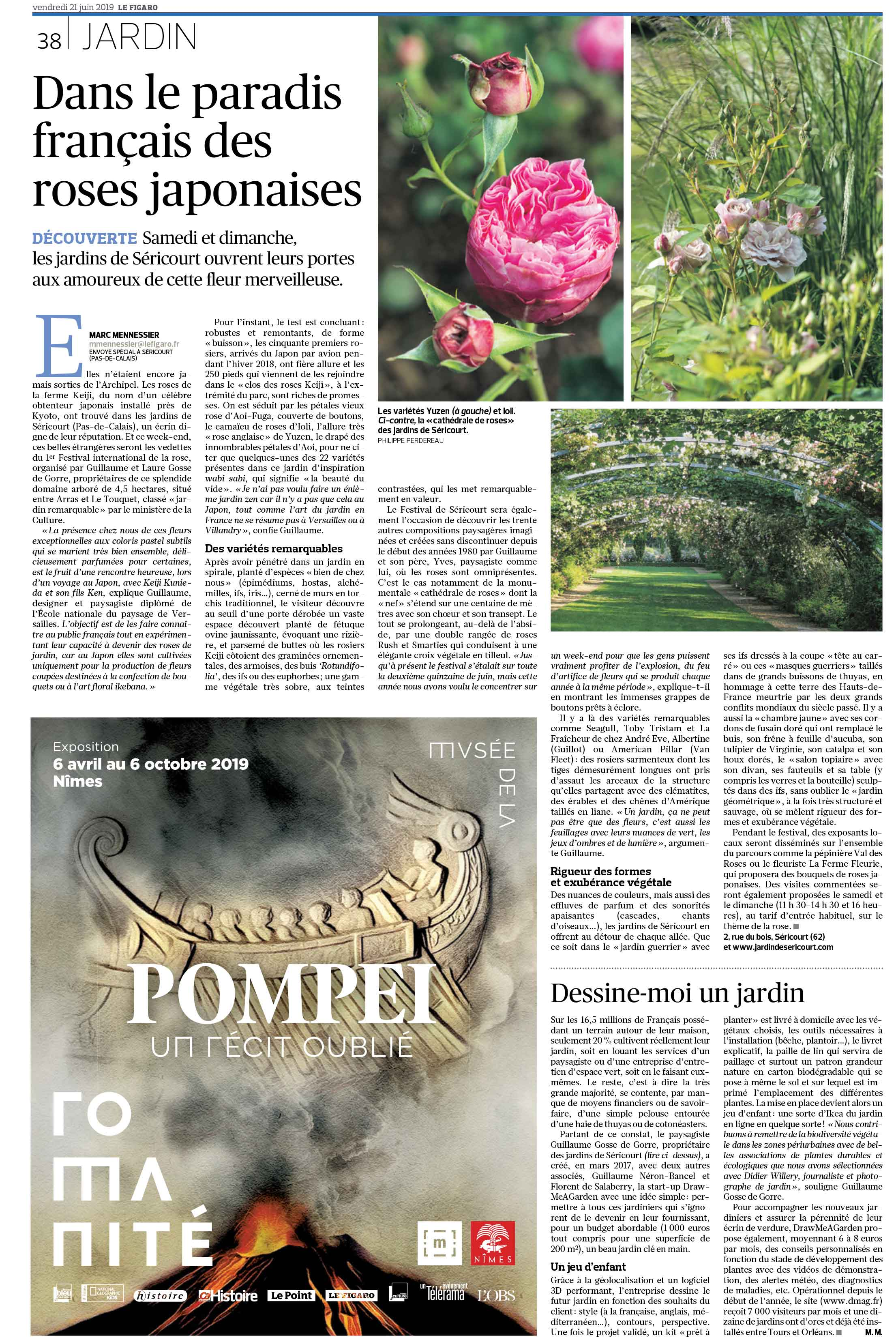 Press report on Draw Me A Garden published in Le Figaro paper
