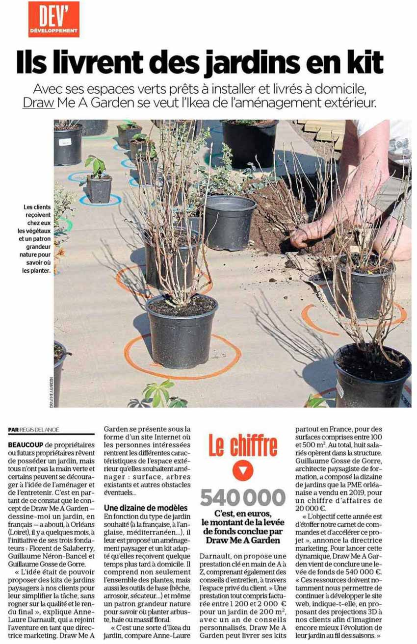 Press article on Draw Me A Garden published in Le Parisien