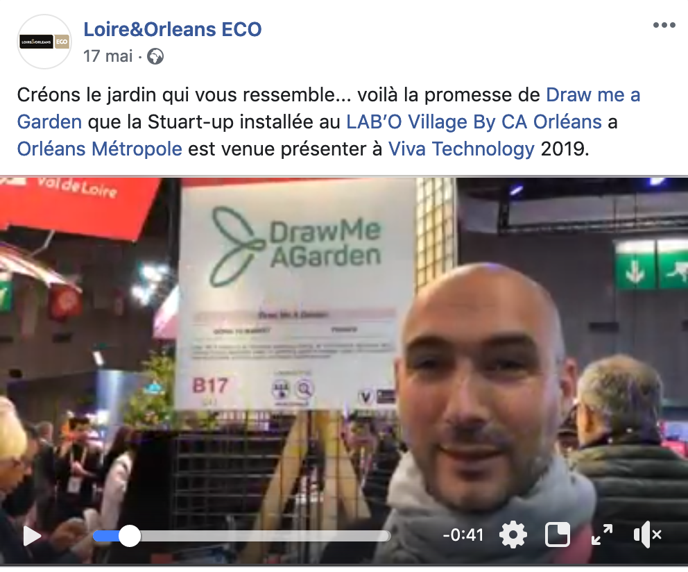Video broadcast on Draw Me A Garden on the facebook page of Loire&Orléans ECO.